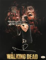Norman Reedus Daryl Dixon Signed Autographed 11x14 Photo JSA Walking Dead 3
