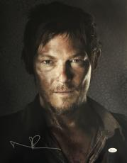 Norman Reedus Daryl Dixon Signed Autographed 16x20 Photo JSA Walking Dead 1