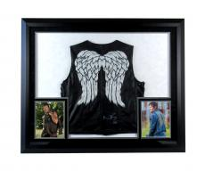 """Norman Reedus """"Daryl Dixon"""" Signed Framed Official The Walking Dead Angel Wing Vest"""