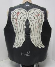 Norman Reedus Daryl Dixon Signed Walking Dead Faux Leather Vest Psa/dna #ac65879