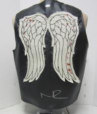 Norman Reedus Daryl Dixon Signed Walking Dead Faux Leather Vest Psa/dna #ac65889