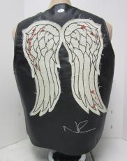 Norman Reedus Daryl Dixon Signed Walking Dead Faux Leather Vest Psa/dna #ac65890
