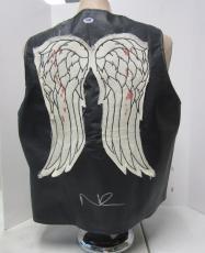 Norman Reedus Daryl Dixon Signed Walking Dead Faux Leather Vest Psa/dna #ac65893
