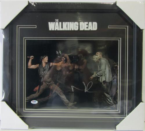 "Norman Reedus ""daryl"" Signed Walking Dead 11x14 Photo Framed Psa/dna #ab96145"
