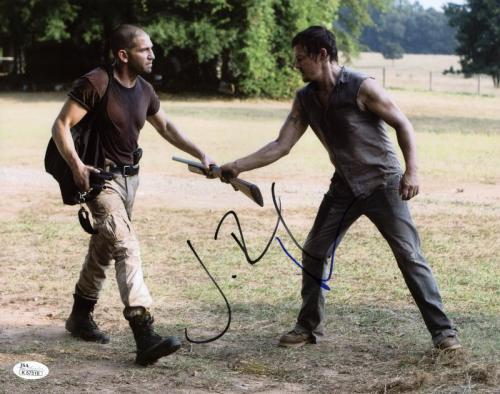 Norman Reedus & Jon Bernthal The Walking Dead Signed 11X14 Photo JSA #K57518