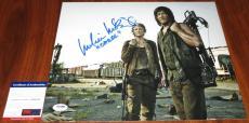 Norman Reedus & Melissa McBride Signed 11x14 Walking Dead Daryl Carol PSA/DNA