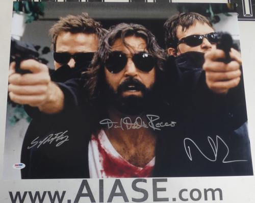 Norman Reedus Sean Patrick Flanery +1 Signed Boondock Saints 16x20 Photo PSA/DNA