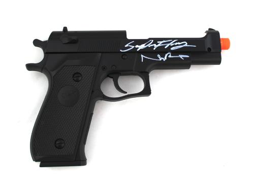 Norman Reedus & Sean Patrick Flanery Signed Boondock Saints Airsoft Replica Prop Pistol with Silencer