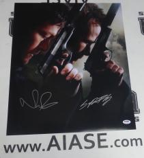 Norman Reedus Sean Patrick Flanery Signed The Boondock Saint 16x20 Photo PSA/DNA