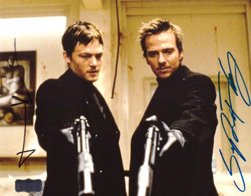 Norman Reedus & Sean Patrick Flanery Signed The Boondock Saints 8x10 Photo No Glasses