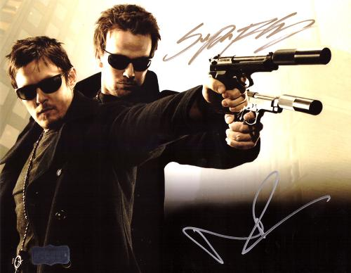 Norman Reedus & Sean Patrick Flanery Signed The Boondock Saints 8x10 Photo With Glasses