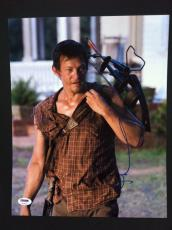 Norman Reedus Signed 11x14 Photo Autograph Psa Dna Coa The Walking Dead