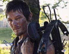 Norman Reedus SIGNED 11x14 Photo Daryl The Walking Dead AMC PSA/DNA AUTOGRAPHED