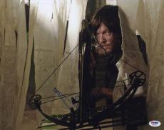 Norman Reedus SIGNED 11x14 Photo Daryl The Walking Dead PSA/DNA AUTOGRAPHED