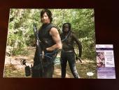 Norman Reedus Signed 11x14 Photo JSA Coa The Walking Dead Daryl Dixon