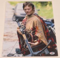 Norman Reedus Signed 11x14 Photo The Walking Dead Autograph Darryl Psa Coa