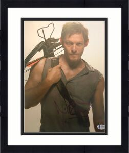 Norman Reedus Signed 11x14 Photo Walking Dead Beckett Bas Autograph Auto A