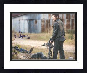 Norman Reedus Signed 11x14 Photo Walking Dead Beckett Bas Autograph Auto C