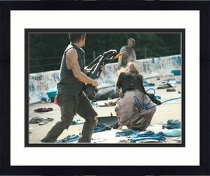 Norman Reedus Signed 11x14 Photo Walking Dead Beckett Bas Autograph Auto K