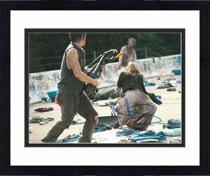 Norman Reedus Signed 11x14 Photo Walking Dead Beckett Bas Autograph Auto M