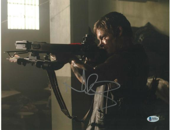 Norman Reedus Signed 11x14 Photo Walking Dead Beckett Bas Autograph Auto S