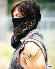Norman Reedus Signed 8x10 Photo Walking Dead Daryl Dixon Autograph Psa/dna Coa D