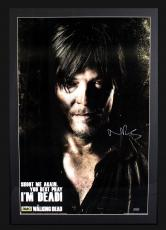 "Norman Reedus Signed AMC The Walking Dead ""Shoot Me Again"" Framed Poster"