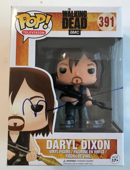 NORMAN REEDUS signed authentic Daryl Dixon (Walking Dead) Funko Pop figure