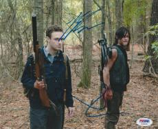 Norman Reedus Signed Auto 8x10 Photo Psa/dna Ac30116 Walking Dead Ross Marquand