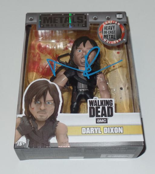Norman Reedus Signed Auto Metal Die Cast Action Figure Bas Coa The Walking Dead