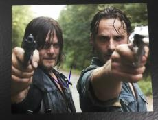 NORMAN REEDUS SIGNED AUTO THE WALKING DEAD DARYL DIXON 11x14 PHOTO PROOF COA 1