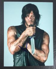 NORMAN REEDUS SIGNED AUTO THE WALKING DEAD DARYL DIXON 8x10 PHOTO PROOF COA 22