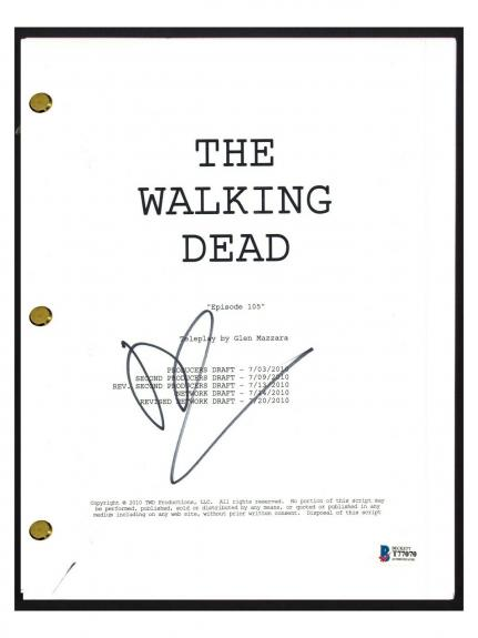 Norman Reedus Signed Autograph The Walking Dead Episode 105 Script Beckett COA