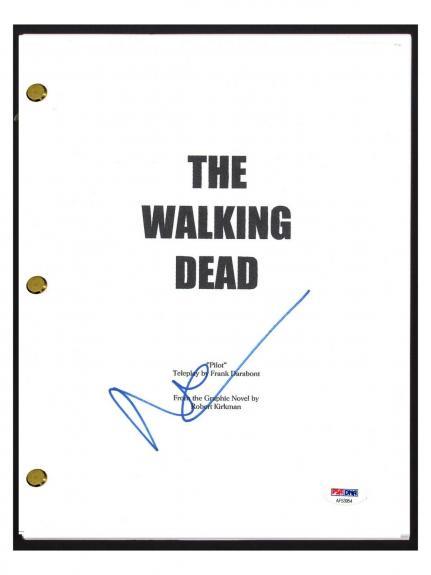 Norman Reedus Signed Autograph The Walking Dead Pilot Episode Script PSA/DNA COA