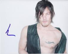 Norman Reedus Signed Autographed 8x10 Photo Daryl The Walking Dead Sexy Pose