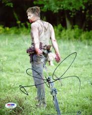 Norman Reedus Signed Autographed 8x10 Photograph Walking Dead Daryl Dixon PSA