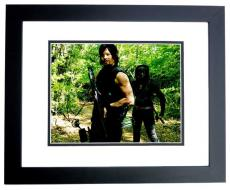 Norman Reedus Signed - Autographed The Walking Dead 8x10 Photo BLACK CUSTOM FRAME - Daryl Dixon