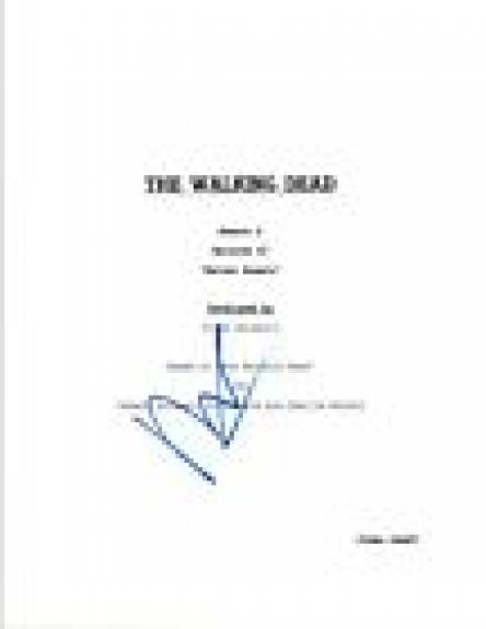 "Norman Reedus Signed Autographed THE WALKING DEAD ""Better Angels"" Script COA VD"
