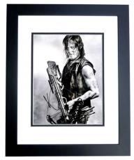 Norman Reedus Signed - Autographed The Walking Dead - Daryl Dixon 11x14 inch Photo BLACK CUSTOM FRAME - Guaranteed to pass PSA or JSA