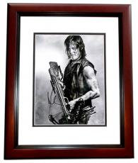 Norman Reedus Signed - Autographed The Walking Dead - Daryl Dixon 11x14 inch Photo - MAHOGANY CUSTOM FRAME - Guaranteed to pass PSA/DNA or JSA