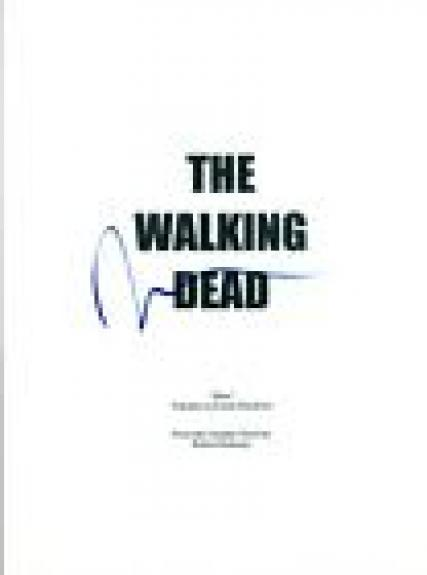 Norman Reedus Signed Autographed THE WALKING DEAD Pilot Episode Script COA AB