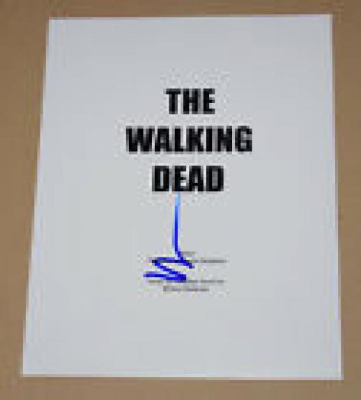 Norman Reedus Signed Autographed The Walking Dead Pilot Episode Script COA B