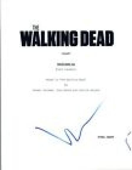 Norman Reedus Signed Autographed THE WALKING DEAD Pilot Episode Script COA VD