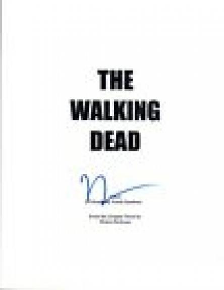 Norman Reedus Signed Autographed THE WALKING DEAD Pilot Episode Script COA VD