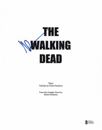 Norman Reedus Signed Autographed Walking Dead Full Pilot Script Beckett Bas Coa