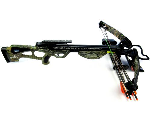 Norman Reedus Signed Bone Collector Camo Full Size Crossbow - The Walking Dead