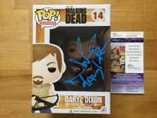 Norman Reedus Signed Daryl Dixon Walking Dead Funko Pop JSA Coa