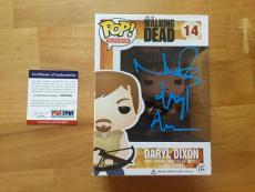 Norman Reedus Signed Daryl Dixon Walking Dead Funko Pop PSA/DNA Coa