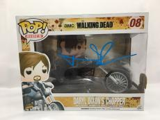 Norman Reedus Signed Daryl Dixon's Chopper Waking Dead Funko Pop PSA/DNA Coa