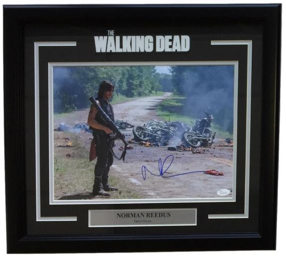 Norman Reedus Signed Framed 11x14 The Walking Dead Daryl Dixon Carnage Photo JSA